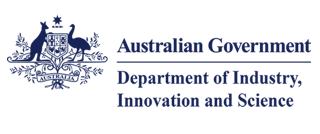 Logo of the Australian Government Department of Industry, Innovation and Science